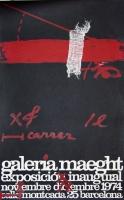 Antoni Tàpies: Galerie Maeght - Barcelona, 1974