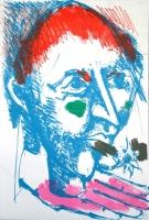 Bernard Lorjou: invitation Bal du Fols, 1959