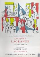Jacques Lagrange: Galerie Maurice Hajje, 1953