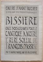 Roger Bissiere: Galerie Bucher, 1954