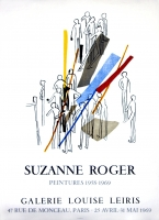 Suzanne Roger: Galerie Leiris, 1969