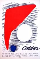 Alexander Calder: Galerie Lucie Weill, 1956