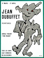 Jean Dubuffet: Galerie Cercle Volney, 1954