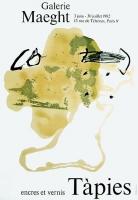 Antoni Tàpies: Galerie Maeght, 1982