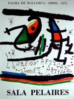 Joan Miró: Galerie Sala Pelaires, 1971