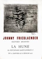 Johnny Friedlaender: Galerie La Hune, 1955