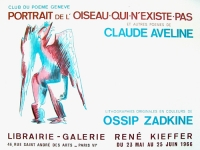 Ossip Zadkine: Librairie - Galerie René Kieffer, 1966