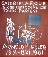 Arnold Fiedler: Galerie la Roue, 1961