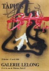 Antoni Tàpies: Galerie Lelong, 1988