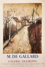 Michel de Gallard: Galerie Framond, 1958