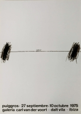 Pere Puiggrós: Galerie Van der Voort, 1975