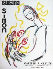 Susana Simo: Galerie Creuze, 1957