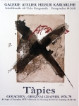 Antoni Tàpies: Galerie Hilbur, 1979