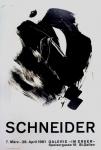 Gérard Schneider: Galerie im Erker, 1961