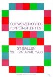 Max Bill: Schweizerisches Ton Künstler Fest St. Gallen, 1983