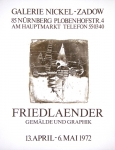 Johnny Friedlaender: Galerie Nickel-Zadow, 1972