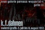 Karl Fred Dahmen: Neue Galerie Parnass, 1959