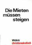 Klaus Staeck: Die Mieten müssen steigen, 1972